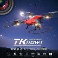 Tkytech TK110HW RC Quadcopter Drone Com Câmera FPV profissional Helicóptero mini Pressão de Ar Automático de Alta