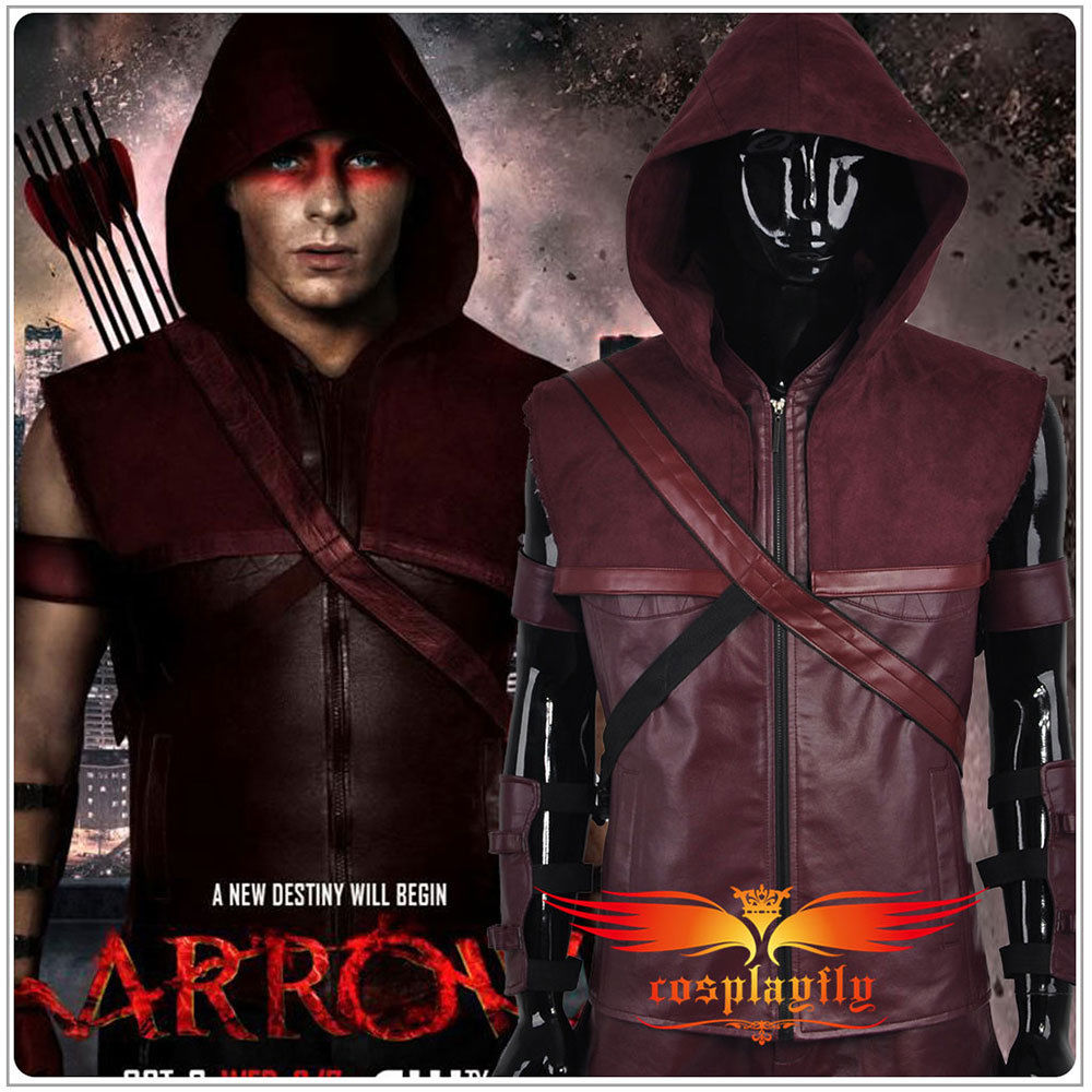 HOT Green Arrow Season 3 Roy Harper Battleframe Cosplay Costume Custom Costume Adult Men Outfit Clothing Christmas