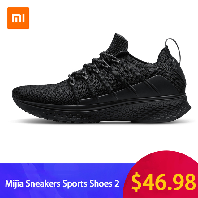 7a35a2b4b1c Original Xiaomi Mijia Men Smart Running Shoes 2 Outdoor Sport Mi Sneakers  Breathable Air Mesh Gym Elastic Knitting Vamp Tennis