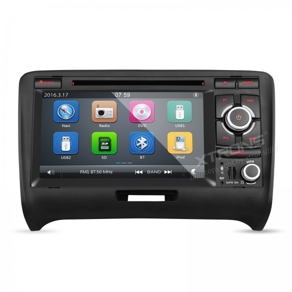XTRONS 7 2 din Car radio 1080P Video Capacitive Touch Screen DVD Player with GPS Navigator CANbus for Audi TT MK2 image