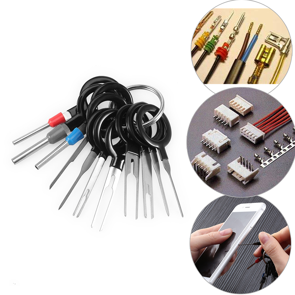 11*Terminal Removal Too Car Plug Circuit Board Wire Harness Terminal  Extractor Pick Connector Crimp Pin Back Needle Removal Tool-in Tire Repair  Tools from ...