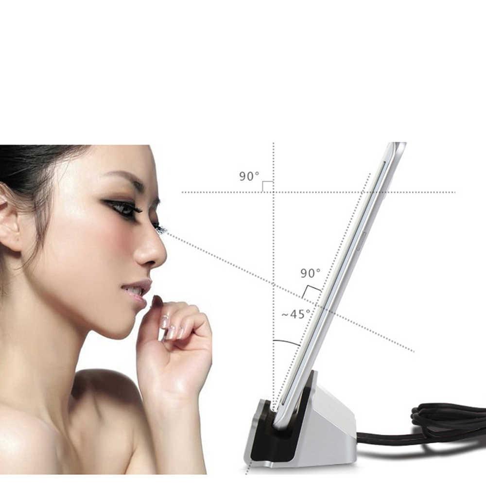 Pour iPhone X 8 7 6 USB câble synchronisation berceau socle de chargeur pour Xiaomi Android Type C Samsung support de support socle de charge Station d'accueil