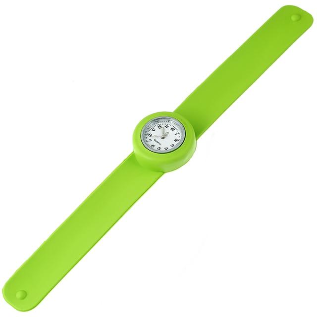 Silicone Slap On Watch boys Sport  KIDS Wristwatch girls Small Silicone Fashion woman's Children Gift