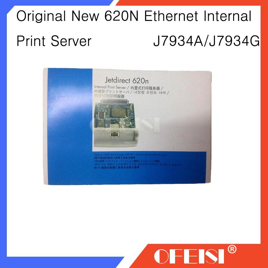 Nouvelle carte réseau de serveur d'impression interne Ethernet JetDirect 620N J7934A J7934G et imprimante traceur DesignJet