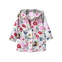 Baby Girls Boys Coat Jackets 2018 New Autumn Spring Fashion Style Kids Printing Hooded Thin