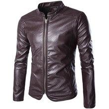 PADEGAO Autumn Winter New Men leather jacket Coats motorcyclists PU jacket warm slim Men stand collar brand Leather jacket coats женская куртка brand new slim o 658052 jacket