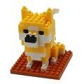 Алмазные Строительные Блоки 3D Животных Рисунок Сиба-Ину Дож Собака Нано DIY Строительного Кирпича Развивающие Игрушки для детей Подарок На День Рождения