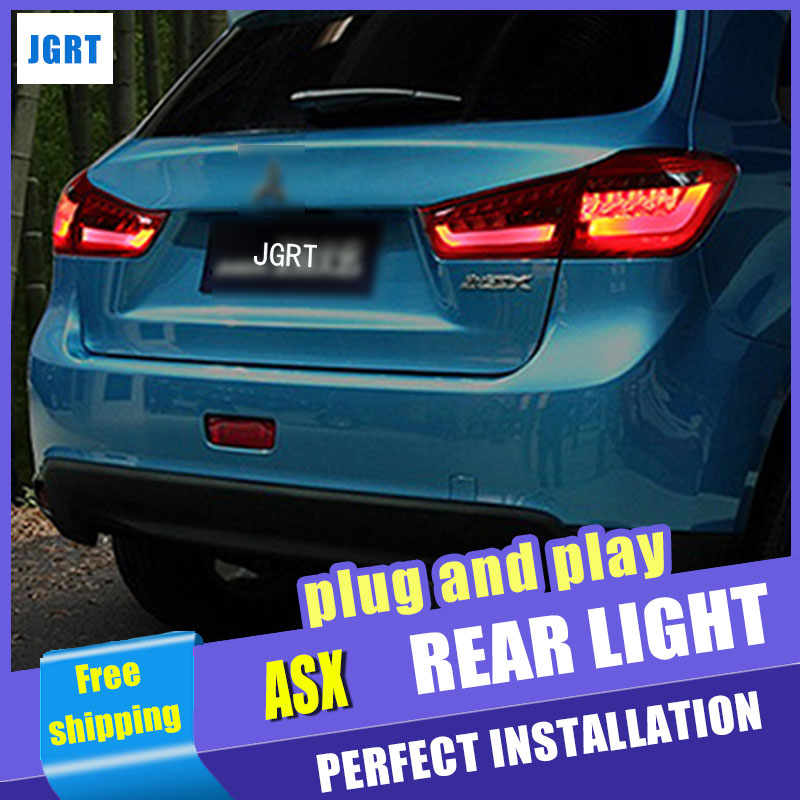 Car Styling for Mitsubishi ASX Taillight assembly 2013-2015 ASX LED Tail Light Outlander Rear Lamp DRL+Brake with hid kit 2pcs. car styling taillight case for mitsubishi asx 2013 2014 2015 taillights led tail lamp rear lamp drl brake park signal light