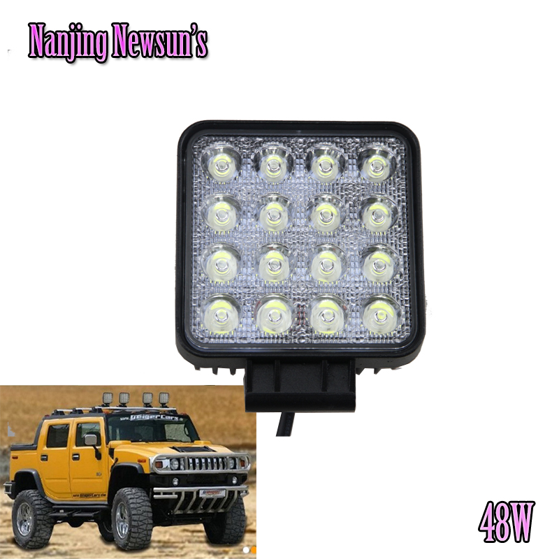 1PC 48W 4.5 Inch Led Work Light Spot Beam Working Lamp truck Trailer SUV Offroads Boat 12V 24V 4WD Waterproof Driving Lights dysc30 20w spot 20w 2000lm suv auto working light