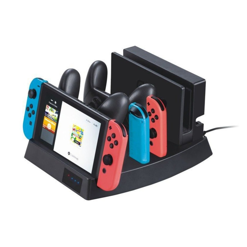 Multifunction USB Charging Dock Storing Stand For Nintend Switch Console NS Joy-con Charger For Switch Pro Controller Hot Sale уровень пузырьковый stanley fatmax level 1 43 525
