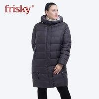Frisky 2018 Winter Jacket Women down jackets female Hooded Plus Size Winter warm Coat Women parka Frisky New larger size FR 1825