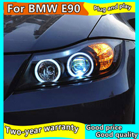 Car Styling Head Lamp case for BMW E90 330i 325i 320i 318i 2005 2012 LED Headlight DRL Daytime Running Light Bi Xenon HID