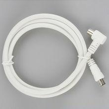 Beyaz RF tek koaksiyel kablo TV RF kablosu 1m 1.5m 2m RCA koaksiyel 1 adet anten anten kurşun kablo erkek erkek