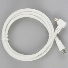 White RF single Coax Cable TV RF cable 1m 1.5m 2m RCA Coaxial 1pc Antenna Aerial Lead Cable Male to Male