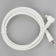 White RF single Coax Cable TV RF cable 1m 1.5m 2m RCA Coaxial 1pc Antenna Aerial Lead Cable Male to Male(China)