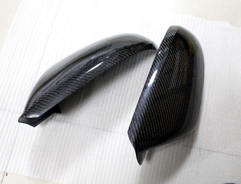 For audi a6 c7 2012 2013 2014 2015 carbon fiber rearview mirror cover trim 2pcs