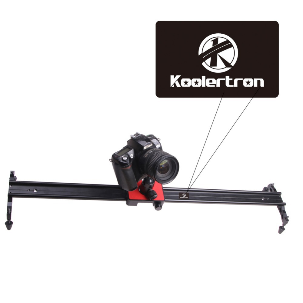 Koolertron Professional 39 100cm Video Camera Mini Slider in Video Shooting Rail Stabilization System for Canon 550D 500D DSLR