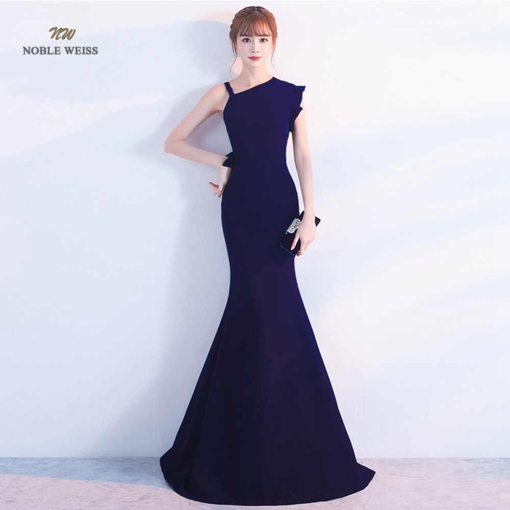 Vestido De Noche Largo Elegante Para Fiesta De Sirena Negro