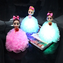 18cm Luminous  Doll Colorful LED Glowing Children Toys for Girl Kidz Birthday Gift Wedding Christmas Light Up