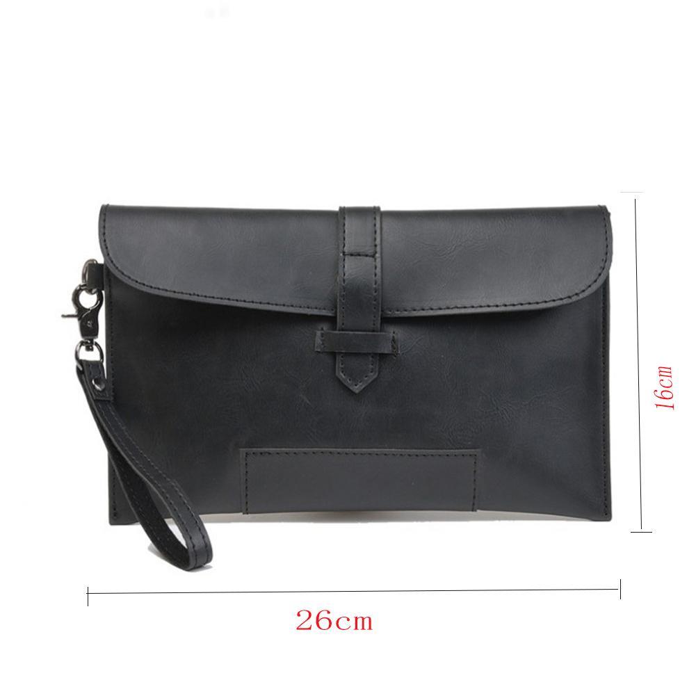 HTB1DwR7XdzvK1RkSnfoq6zMwVXaf Hot Sale Men PU Leather Business Work Handbag 2018 New Fashion Male Solid Color Envelope Bag Briefcase