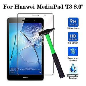 Защитное стекло для Huawei MediaPad T3 8,0, закаленное стекло для мультимедиа Pad T 3, Защитная пленка для экрана 9H