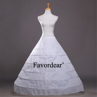 Favordear Underskirt Ball Gown Wedding Dress Petticoat White Elastic Waistband Lace Up 3/4/6 Steel Ring Performance Petticoat