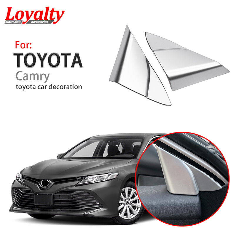 Toyota Camry 2018 Interior >> Us 8 99 Loyalty For Toyota Camry 2018 2019 Abs Interior Window Side Triangle Decoration Cover Trim Car Styling Accessories In Chromium Styling From