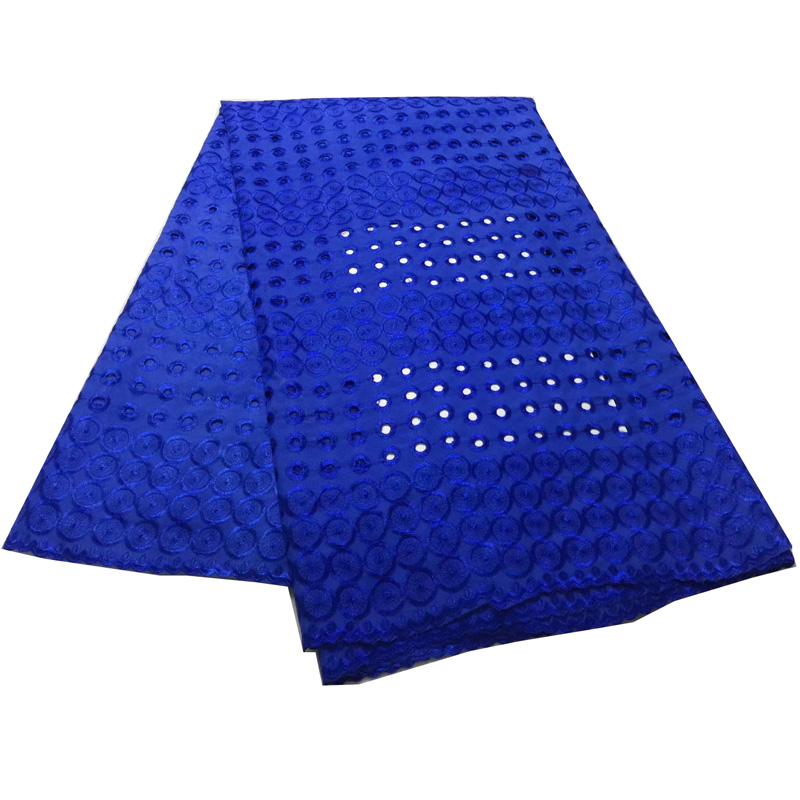 Free shipping (5yards/pc) elegant African cotton lace fabric royal blue Swiss voile lace fabric for making dress CLS195Free shipping (5yards/pc) elegant African cotton lace fabric royal blue Swiss voile lace fabric for making dress CLS195