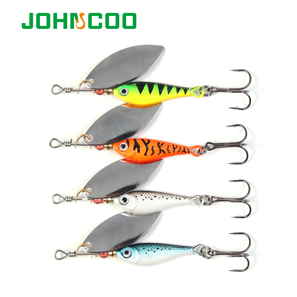 Johncoo new minnow spinner bait metal spoon long casting for New fishing lures