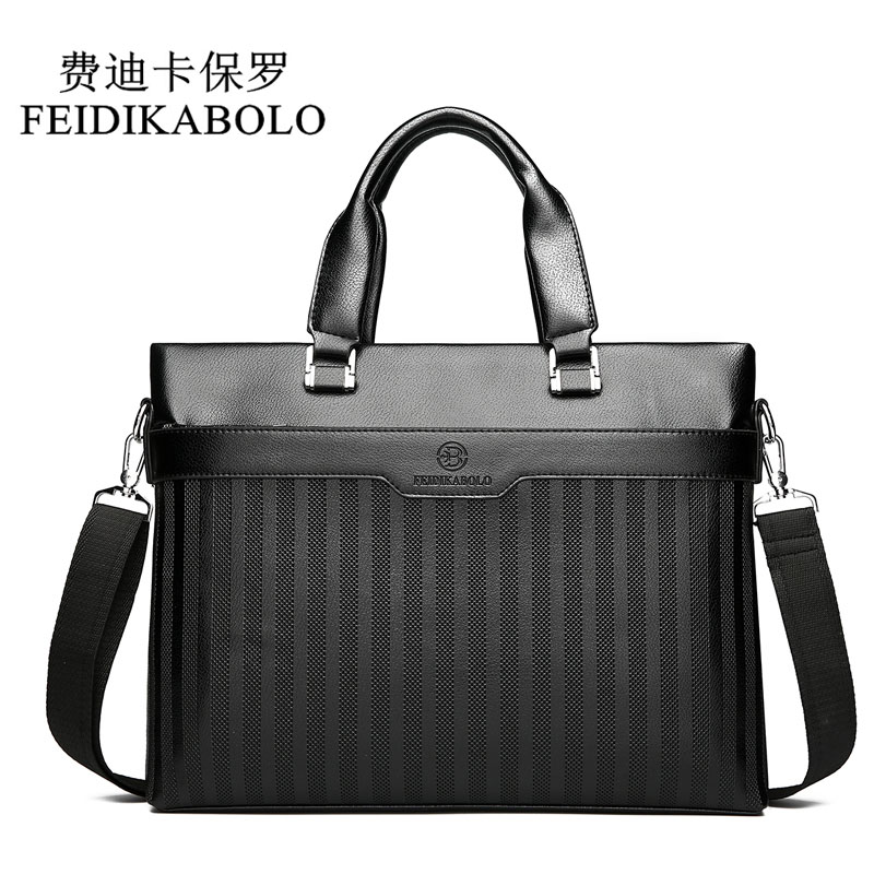FEIDIKABOLO 2019 Men Casual Briefcase Business Shoulder Bag Leather Messenger Bags Men's Travel Bags Computer Laptop Handbag Bag