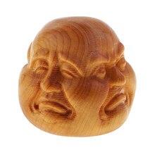 Czterotwarzowa głowa buddy rzeźba Ornament kryty ogrodowa rzemiosło dekoracyjne 4x4x4cm