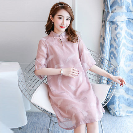 Chinese Cheongsam For Pregnant Women Summer Traditional Style Cotten Qipao Maternity Dresse Maternity Clothes Christmas Giftz788 Dresses Aliexpress