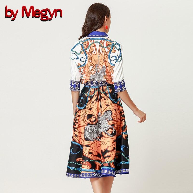 2018 Color Falda Y Skirt De Rodilla Alta Mujeres Unidades Las Vintage 2 Impresión Sets Trajes Para Megyn By Blusas longitud Runway Calidad Elegante pBIEaw