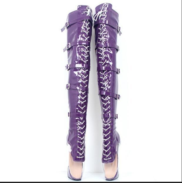 9d4fd94f Hebillas Ballet Tamaño Rodilla Cuero 36 Zapatos Baile Z1 Para 46 Sobre La  Más Mujer Botas De Patente SBBzqwg