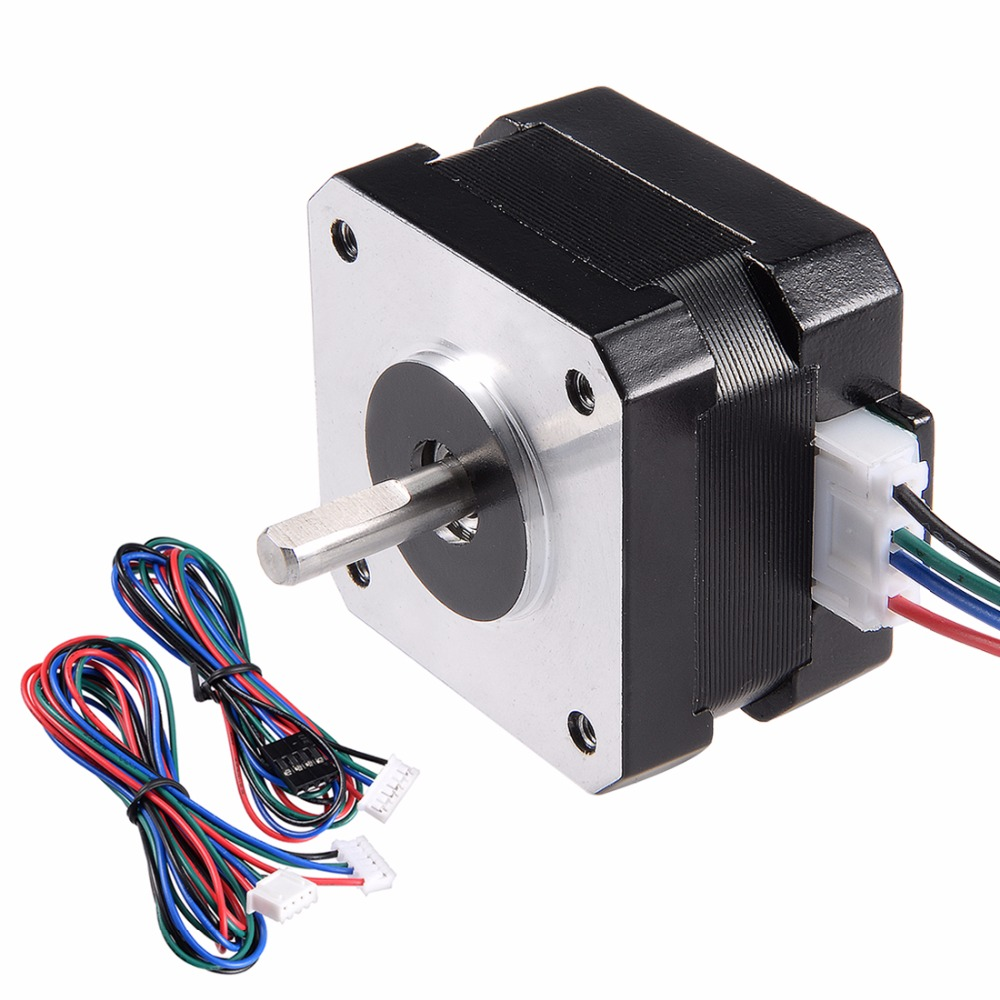 Hot NEMA 42 Stepper Motor Bipolar 4 Leads 2 Phase 16mm 3.6V 1.2A 0.14N.m Shaft 5mm for 3D Printer CNC Router Laser Lathe Machine