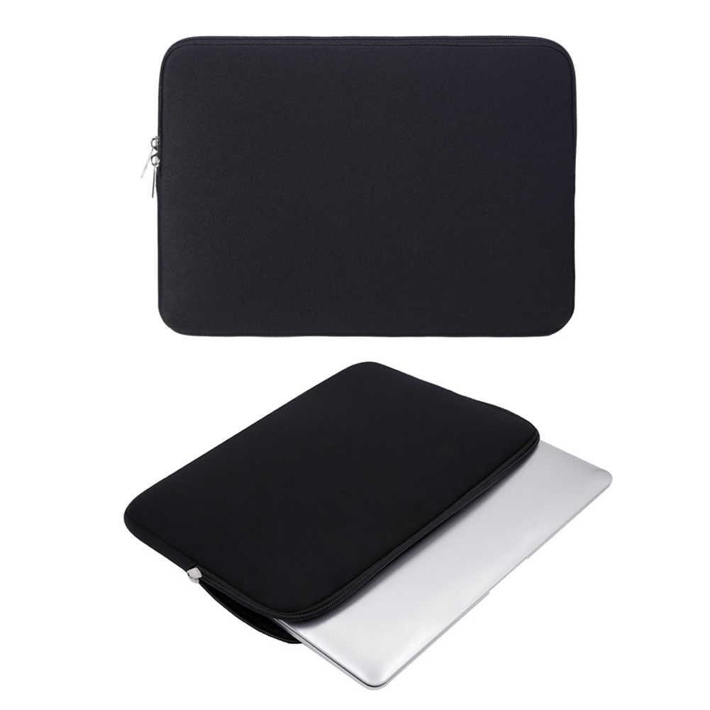 Funda para ordenador portátil suave con cremallera bolsa 12 13 14 15 15,6 pulgadas funda para Tablet MacBook Air Pro Ultrabook