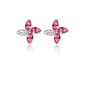 Crystal Flower Earring 1
