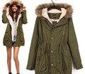 2016 nuevas mujeres de la moda abrigo de invierno de algodón de manga larga con capucha de invierno mujer abrigos venta caliente