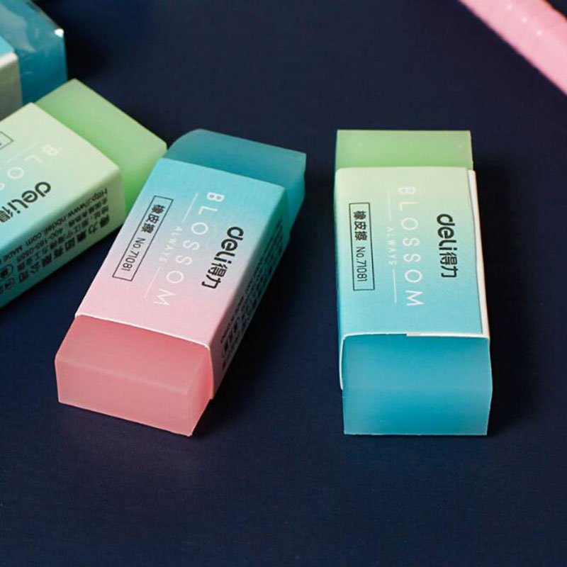 1pc Jelly Color Translucent Eraser Art Drawing Sketch Student Writing Office Stationery 5*2cm Student Professional Eraser