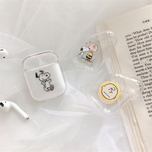 New Airpods case for airpods cover Cute Cartoon transparent hard case Bluetooth wireless earphone case For iphone cases airpods