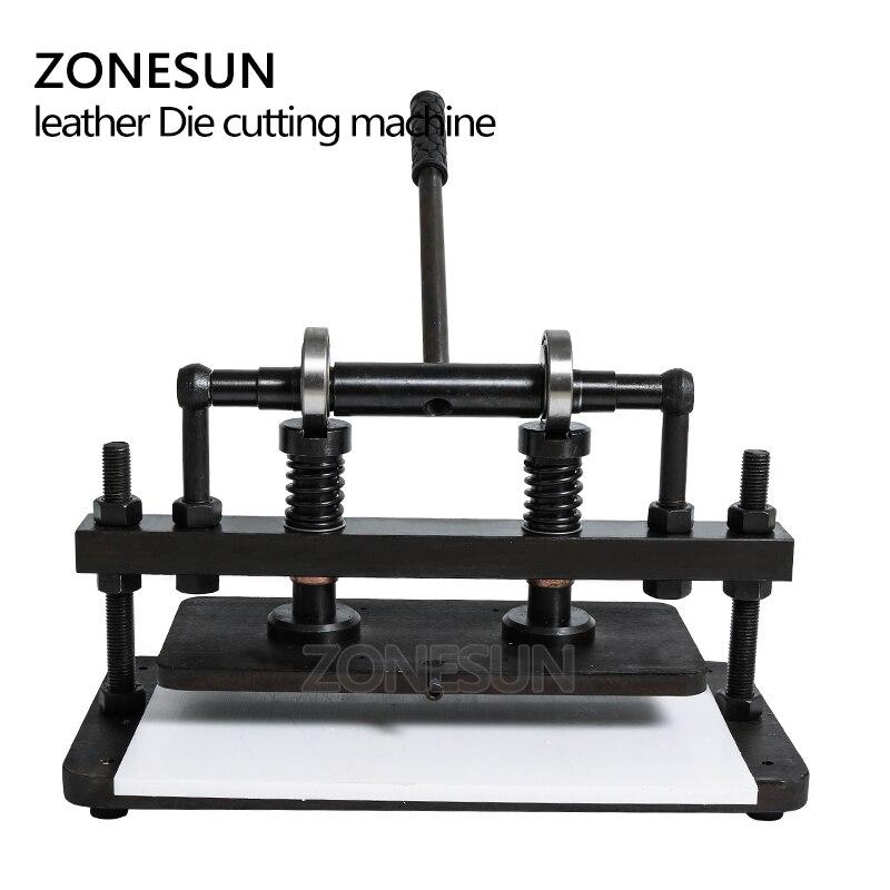 ZONESUN 3616cm Double Wheel Hand leather cutting machine photo paper PVC/EVA sheet mold cutter leather Die cutting machine tool - 4