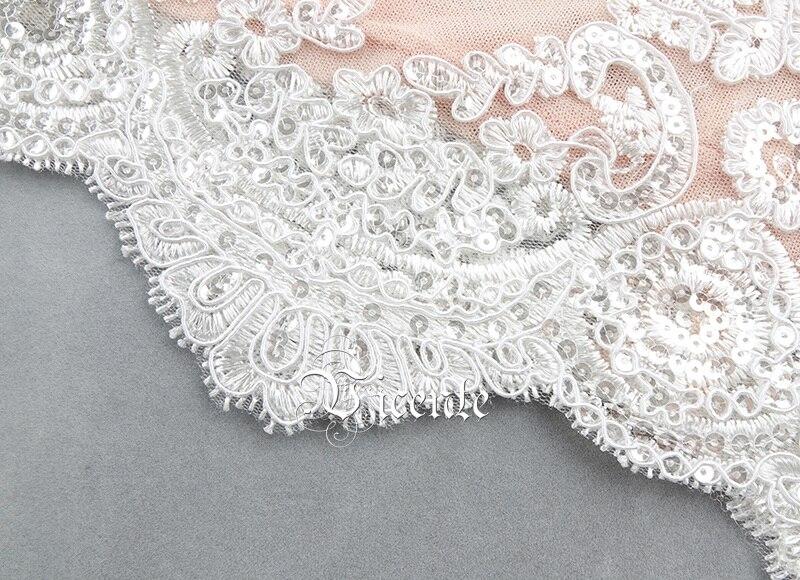 Partito Collo Chic Set 2019 Maniche Design Bianco Colore Personaggio Del Mezze Due New Alta Famoso Rosa Vicente Ricamo Pezzi Un Sequins Fasciatura Di xCfEq1wxa