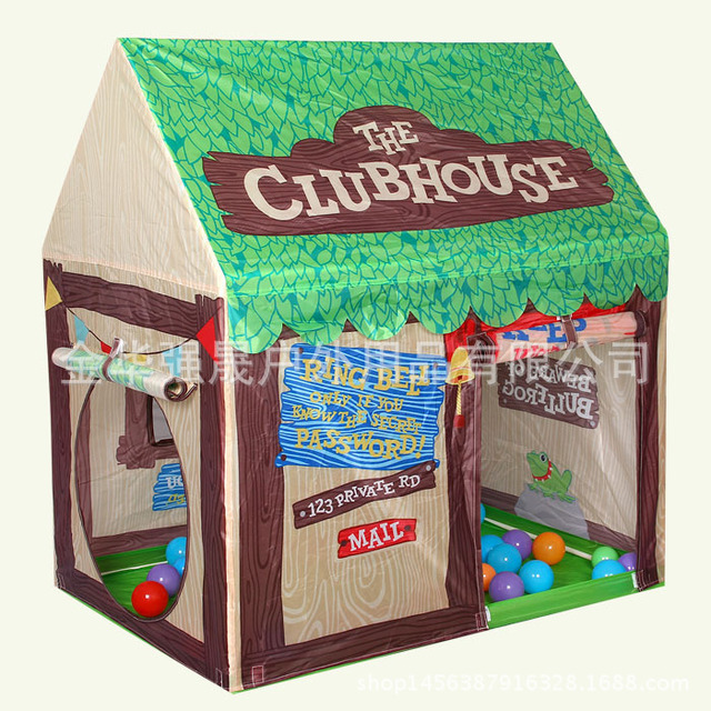 new printing childrens toy tent boys game house princess tent the club house tent ball pool - Printing With Children