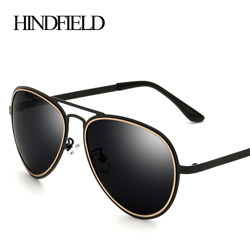 HINDFIELD Sunglasses Men Polarized Vintage Male Sun glasses Eyewear Accessories Google gafas de sol hombre