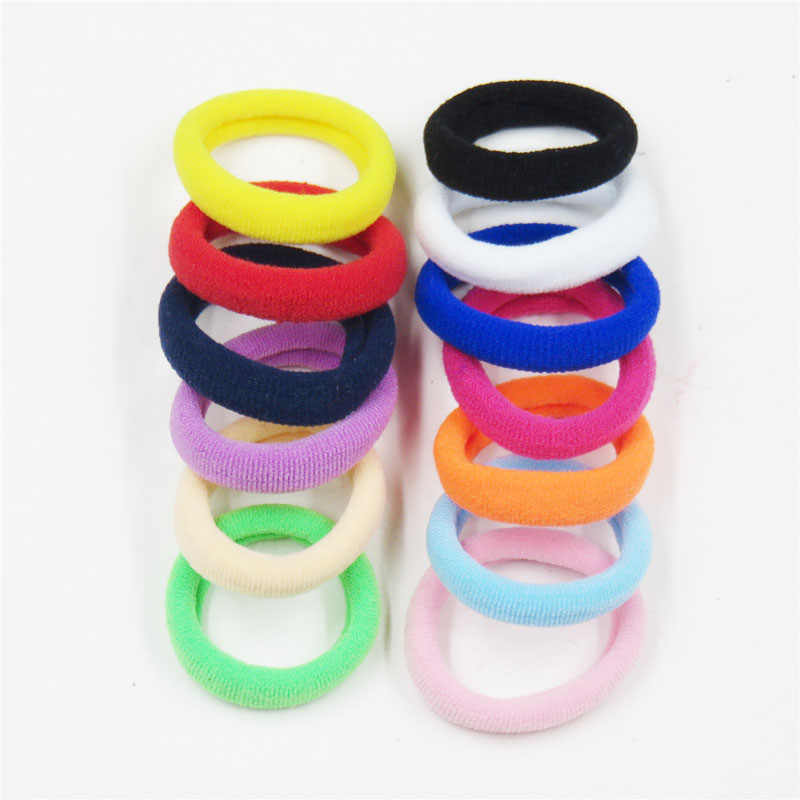 10PCS/LOT Colorfull Hair Ring Novelty Elastic Hair Bands For Girls Bohemian Scrunchy Fashion Kids Hair Accessories For Women