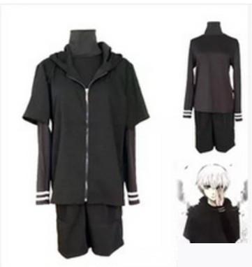 cb606129f26da Go shopping for best price Anime Tokyo Ghoul Ken Kaneki Cosplay Costumes  Black Casual Unisex Set Clothes ( Hoodie+ Pants). Compare Price Low and  Options of ...