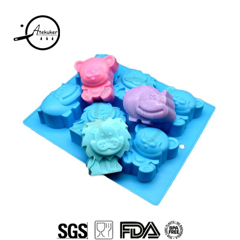 Atekuker, форма облака, силиконовая форма для выпечки муссов, инструменты для торта, формы для мыла, желе, формы для пудинга и кубиков льда, форма для мыла