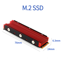 Cool Warship for NVME for NGFF M.2 Heatsink Aluminum Sheet Thermal Conductivity Silicon Wafer Cooling Warship Nvme Heatsink 2280