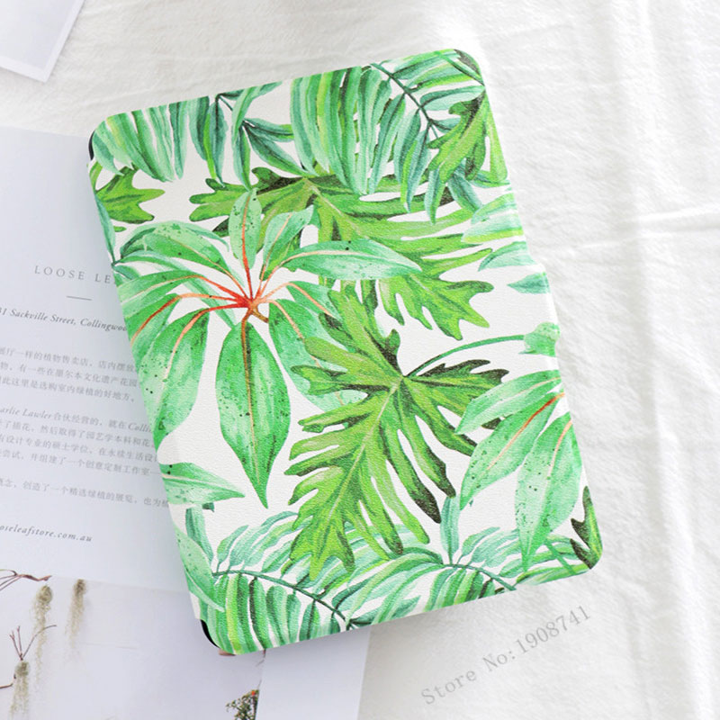 Mimiatrend Beautiful Leaf PU Cover for Amazon Kindle Paperwhite 1 2 3 449 558 Case 6 inch Ebook Tablet Accessories canvas sleeve pouch bag for amazon kindle touch paperwhite voyage new kindle 6 inch ebook cover shockproof e book sleeve cases