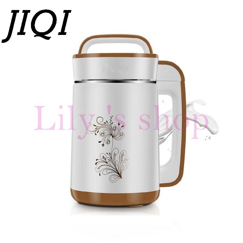 JIQI 1.5L Soymilk machine household Soyabean Milk Maker Stainless Steel filter-free automatic heating soybean Milk machine dřevěné dekorace do dětského pokoje